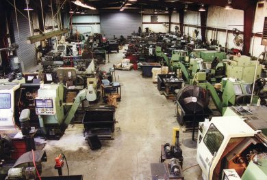 Our shop in the 1990s primarily consisted of CNC lathes, production mills and automatic screw machines.
