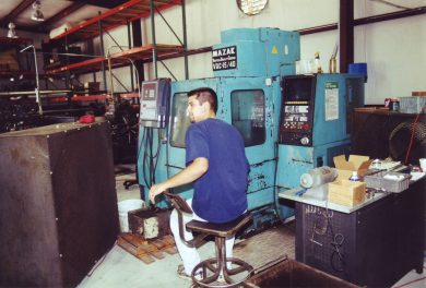 We added CNC milling machines to our business in the 1990s.